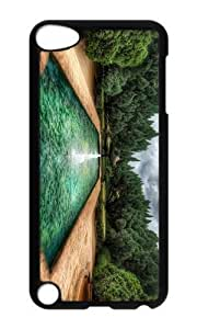 Ipod 5 Case,MOKSHOP Cute pool garden Hard Case Protective Shell Cell Phone Cover For Ipod 5 - PC Black