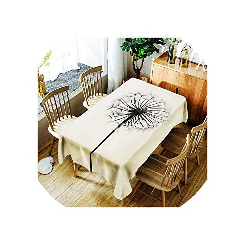 See Something Oilproof Tablecloth Waterproof Table Cloth Rectangular Tablecloth for Table Oilcloth Fabric Covering,BO421,150X210cm