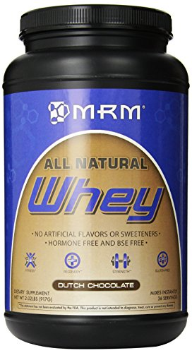 MRM - All Natural Whey Protein Powder, With Essential Amino Acids, BCAAs & Glutamine for Maximum Muscle Growth & Development (Dutch Chocolate), 32 Ounce