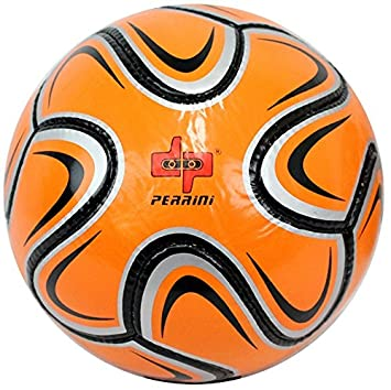 Perrini plata/naranja/negro Brazuca balón de fútbol tamaño 5 ...