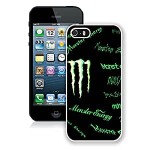 Fashion Designed Cover Case For iPhone 5S With Monster 9 White Phone Case