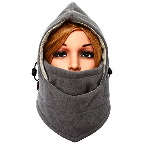 Balaclava Winter Face Mask for Men and Women Outdoor Sport Ski Mask Neck Warmer Grey