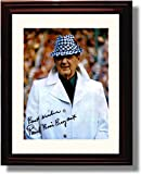 "Framed Alabama Football Bear Bryant ""Best Wishes"" Autograph Replica Print"