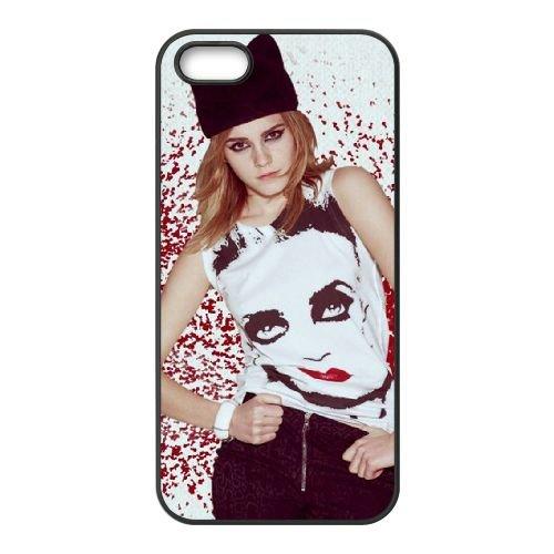 Emma Watson Elle coque iPhone 5 5S cellulaire cas coque de téléphone cas téléphone cellulaire noir couvercle EOKXLLNCD23526