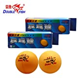 Double Fish Super 3 Star 40mm Orange Table Tennis Balls, Tournament Ping Pong Balls, For Professional Training and Common Match 2 Pack (3 balls in one pack)