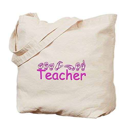 CafePress–Insegnante–Borsa di tela naturale, panno borsa per la spesa
