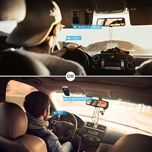 SOAIY S-32 Voice Command Hands-Free Bluetooth in-car Speakerphone, Wireless Bluetooth Car Kit for Safely Driving with Shake Power On Function by SOAIY (Image #2)