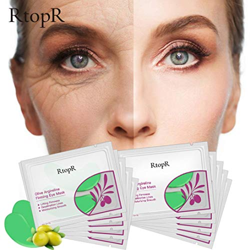 Price comparison product image Ourhomer 1 Pair Facial Mask Acne Whitening Collagen Eye Zone Mask Anti Aging Dark Circle Under Eye Patch (A)