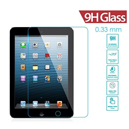 iPad 4 Screen Protector, iRAG® 0.33mm 9H Premium Tempered Glass Screen Protector for Apple iPad 4 | iPad 3 | iPad 2 - Protect Your Screen from Drops, Scratches and Shatterproof