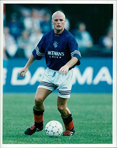 Vintage photo of Football Paul Gascoigne Glasgow Rangers FC