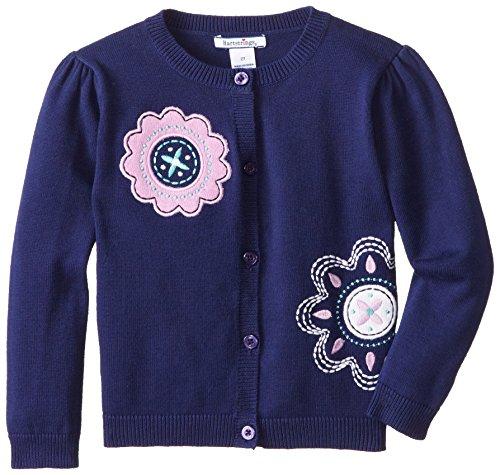Hartstrings Little Girls' Cotton Cardigan Sweater, Light Navy, 6X (Hartstrings Cotton Cardigan)