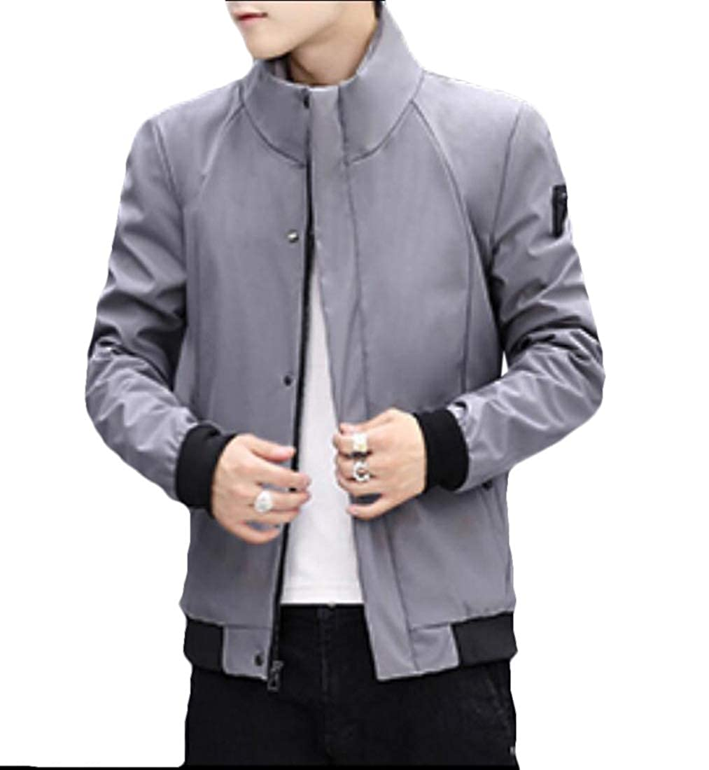 Qiangjinjiu Mens Jacket Winter Fleece Outerwear Classic Jacket Windproof Coats