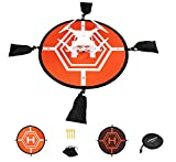 #6: Virhuck RC Drone Landing Pad, Fast-Fold Helicopter Landing Pad for DJI Mavic Pro, Phantom 1/2/3/4 Pro, Inspire 2/1, 3DR Solo, Syma or Other Quadcopter, Orange