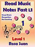 Read Music Notes Fast Level 1 - My Unique Method - Read Music Notes like Names of People: Music Theory
