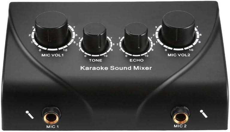 Grant-US Karaoke Sound Mixer Professional Audio System Portable Miniskirt Digital Audio Profound Karaoke Machine Echo Mixer System