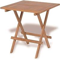 vidaXL Teak Outdoor Folding Dining Bistro Cafe Table 60cm Garden Picnic Camping