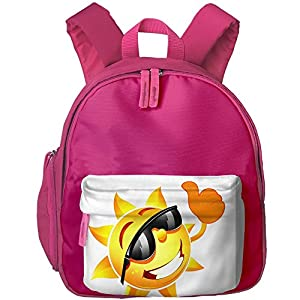 Student School Bags Backpack Daypack Sun With Sunglasses Super Bookbag Break For Kids Pink