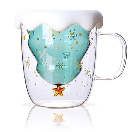 JklausTap - Tazas de café de Cristal para árbol de Navidad ...