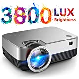 VIVIMAGE C480 Mini Projector, 3800 Lux 1080P Supported and 170'' Display Portable Video Projector with 40,000 Hrs LED Lamp Life, Compatible with TV Stick, PS4, HDMI, VGA, TF, AV and USB