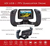 """UDI U28-1 FPV Drone with Camera - Remote Control Drone Quadcopter with Altitude Hold, WiFi HD Camera and 4"""" LCD Screen - Great RC Drone for Kids or Beginners - Extra Battery Doubles Flight Time"""