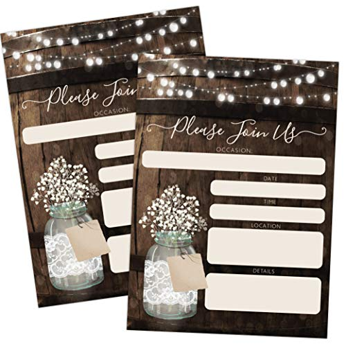 Rustic Country Wood Barrel Invitations, Elegant invites for