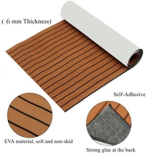 Alfombrilla antideslizante para suelo marino gris claro con l/íneas negras SOOMJ EVA Faux Teak Decking Sheet for Boat Yacht
