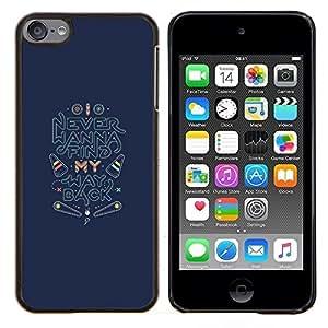 TECHCASE---Cubierta de la caja de protección para la piel dura ** Apple iPod Touch 6 6th Touch6 ** --Volver Encuentra inspirado de la cita