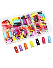 Vastitude 500pcs Lady French Acrylic Style Artificial False Nails Half Tips & Box
