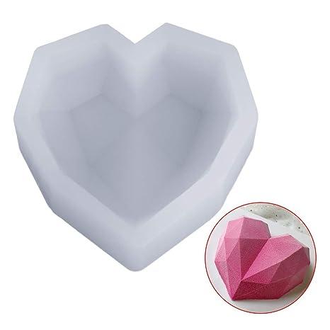 Molde de silicona Mmnas, colgante de resina epoxi con forma de corazón irregular 3D para