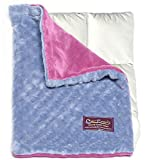 Creature Commforts Weighted Lap Pad 3lbs - For kids, adults - Removable cover, soft minky duvet, organic insert - Heavy sensory lap pad made in USA - pink raspberry