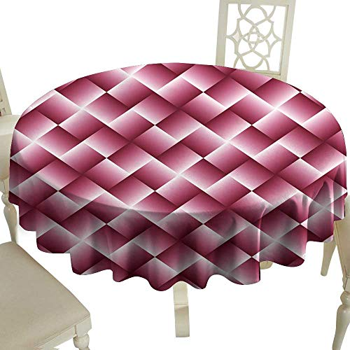 - Elegance Engineered Tablecloth Pink Geometric Background with Squares - Abstract Wallpaper Indoor Outdoor Camping Picnic D35