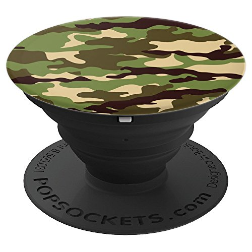 Green Camo - PopSockets Grip and Stand for Phones and Tablets