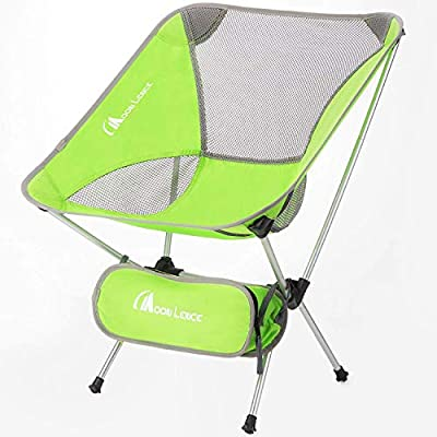 MOON LENCE Outdoor Ultralight Portable Folding Chairs with Carry Bag Heavy Duty 242lbs Capacity Camping Folding Chairs Beach Chairs …