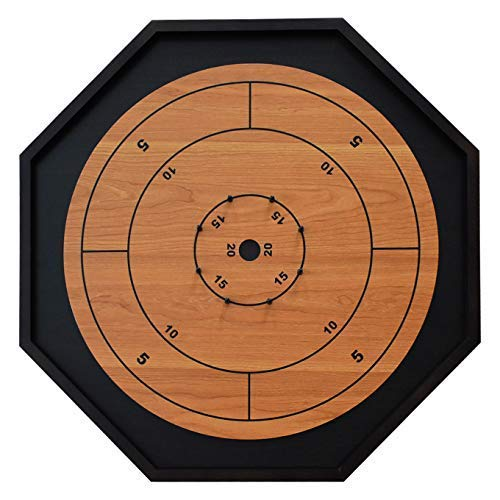 The Crokinole King - Traditional Size Crokinole Board Game Set