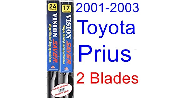 Amazon.com: 2001-2003 Toyota Prius Replacement Wiper Blade Set/Kit (Set of 2 Blades) (Saver Automotive Products-Vision Saver) (2002): Automotive
