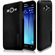 J7 Case, Phonelicious® SAMSUNG GALAXY J7 (BOOST,VIRGIN,TMOBILE,METRO PCS) [Slim Fit] [Heavy Duty] Ultimate Drop Protection Rugged Cover w/ Screen Protector& Stylus (BLACK MATTE)