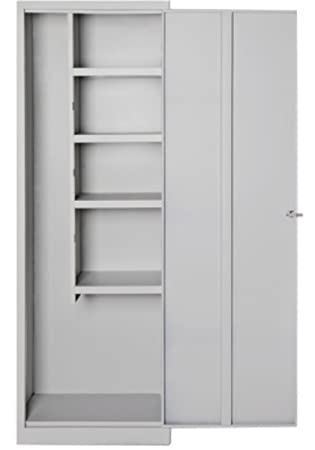 Armario escobero para exterior fabulous armario de limpieza escobero con estantes b armario de - Armarios pvc carrefour ...