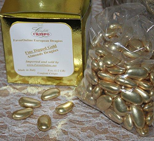 Gold Jordan Almonds 8 oz Bag]()