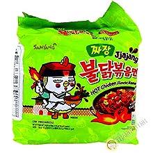 Samyang Jjajang Hot Chicken Ramen 짜장 불닭 볶음면 (Pack of 5)