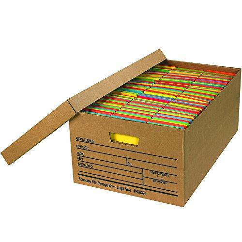 BOX USA BFSB370 Economy File Storage Boxes, 24
