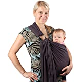 Neotech Care Baby Sling Carrier - Cotton - With Rings Adjustment - For Infant, Newborn, Child, Toddler - Grey