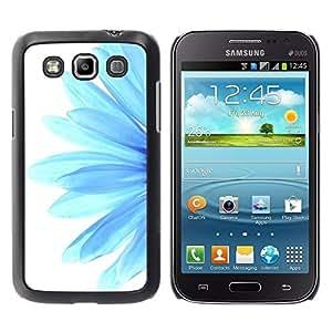 Be Good Phone Accessory // Dura Cáscara cubierta Protectora Caso Carcasa Funda de Protección para Samsung Galaxy Win I8550 I8552 Grand Quattro // Blue Flower Daisy Petal White Minima
