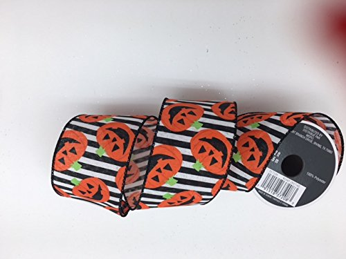 Celebrate IT- Ribbon Bow-tuque-Halloween Pumpkin- 2.5 in x 12ft]()