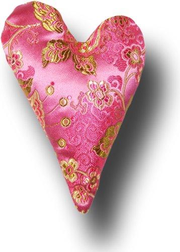 "Candi Andi - 6"" Heart Sachet Pillow - Satin Brocade - Lavender Scented - Pretty in Pink - SH6-PK"