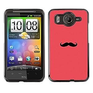 A-type Arte & diseño plástico duro Fundas Cover Cubre Hard Case Cover para HTC G10 (Moustache Pink Red Hipster Minimalist)