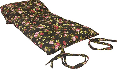 Brand New Queen Size Rose Black Traditional Japanese Floor Futon Mattresses, Foldable Cushion Mats, Yoga, Meditaion 60