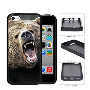 Angry Grizzly Bear Close-up Portrait Rubber Silicone TPU Cell Phone Case Apple iPhone 5c