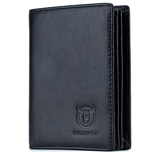 Bullcaptain Large Capacity Genuine Leather Bifold Wallet