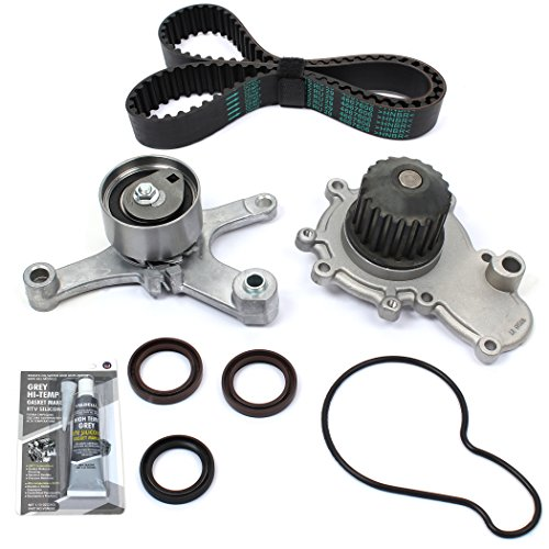 New TSW245MSI (112 TEETH) Timing Belt Kit w/HNBR OEM GRADE Belt & Water Pump Set w/RTV Silicone ()