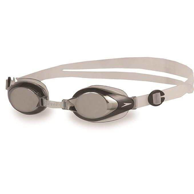 Speedo Erwachsenen Schwimmbrille Futura Plus Senior schwarz klare Gläser